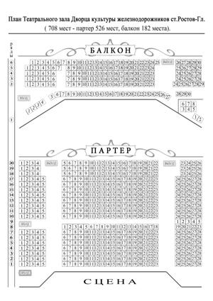 Схема мест театр горького ростов